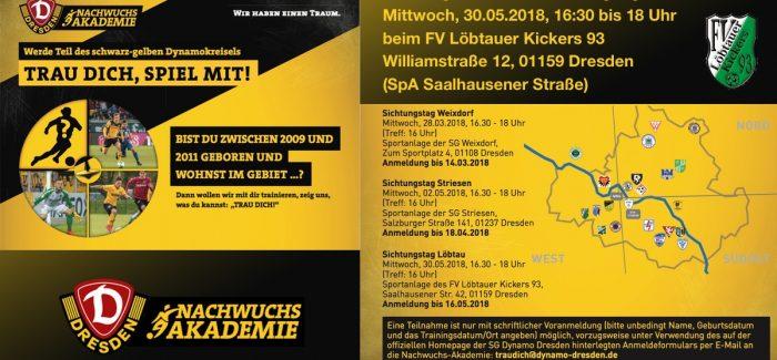 """TRAU DICH, SPIEL MIT!"" / Sichtungstraining der SG Dynamo Dresden"